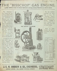Advert for the Bisschop Gas Engine